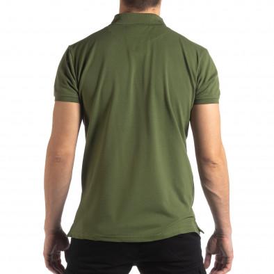 Зелена тениска с яка Marshall Militare it210319-88 3