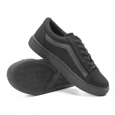 Дамски гуменки от плат тип Old Skool All black it140918-46 4
