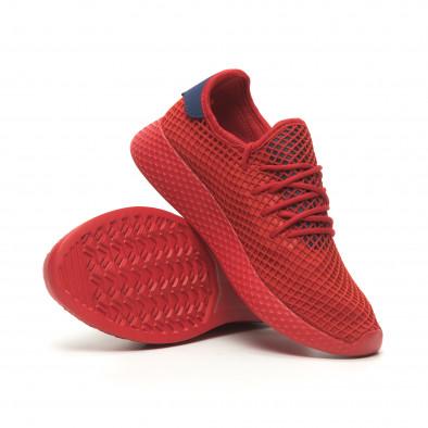 Червени мъжки маратонки Mesh синя пета it230519-8 4