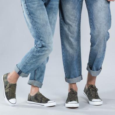 Камуфлажни кецове за двойки с бяла подметка cs-camouflage-A01-B01 2