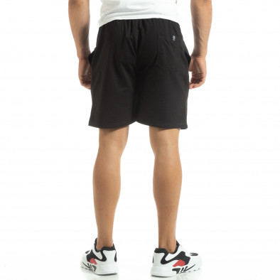 Мъжки шорти трико в черно it120619-13 3