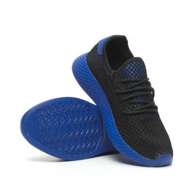 Черни мъжки маратонки Mesh сини части it230519-11 4