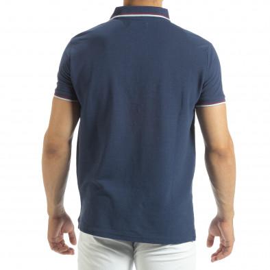 Мъжка тениска polo shirt в синьо it120619-25 3