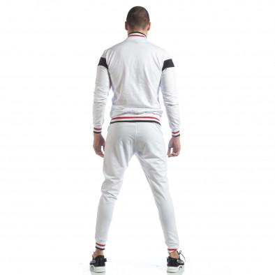 Мъжки бял спортен комплект с права яка ss-NB-13A-NB-13B 6