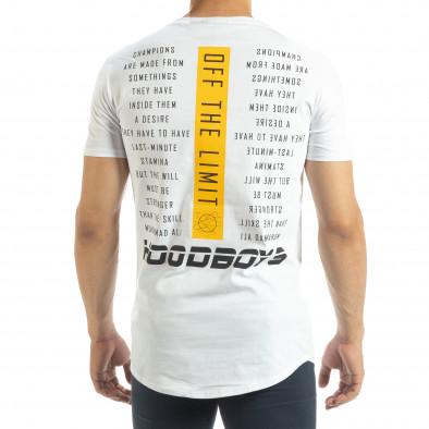 Бяла мъжка тениска Off The Limit it120619-43 3