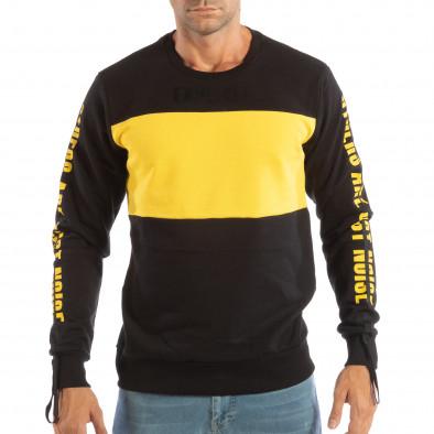 Черна мъжка памучна блуза EXPLICIT it240818-143 3