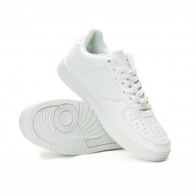 Мъжки бели кецове скейтърски модел it221018-26 4