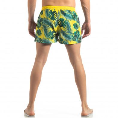 Жълт мъжки флорален бански с кантове it250319-14 4