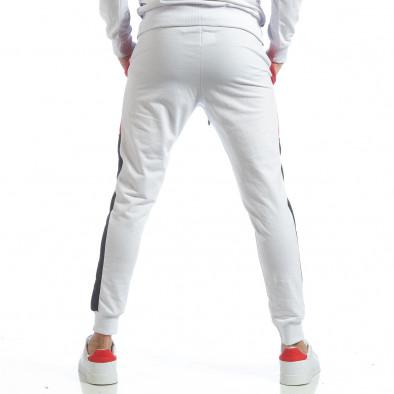 Бяло мъжко долнище с ленти it040219-72 4