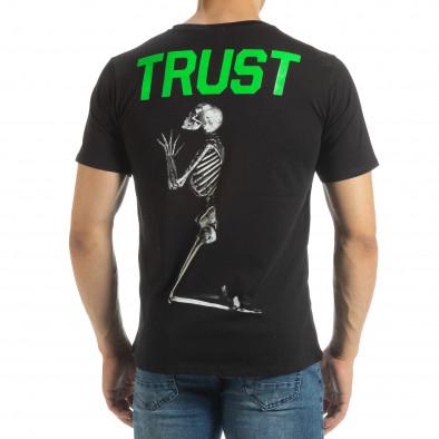 Черна мъжка тениска Pray Trust it120619-40 3