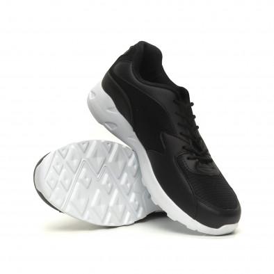 Мъжки ултралеки маратонки с дебела подметка в черно it040619-11 4