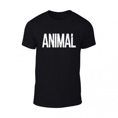 Мъжка черна тениска Animal TMN-M-068 2