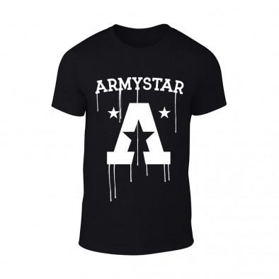Мъжка черна тениска Armystar TMN-M-074 2