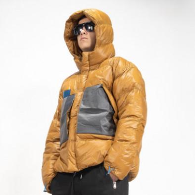 Мъжка пухенка с качулка и големи джобове it091219-15 4