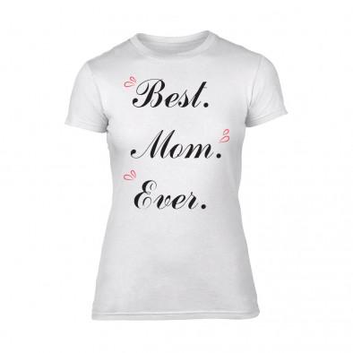 Дамска бяла тениска Best Mom Ever TMN-F-081 2