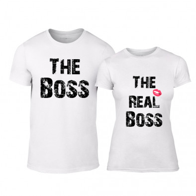 Тениски за двойки The Boss The Real Boss бели TMN-CP-139 2