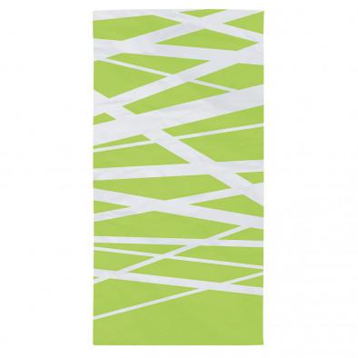 Зелена плажна кърпа с бели ленти tsf120416-2 2