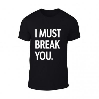 Мъжка черна тениска I Must Break You TMN-M-080 2