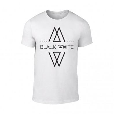 Мъжка бяла тениска Black White TMN-M-069 2