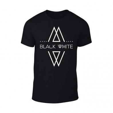 Мъжка черна тениска Black White TMN-M-070 2
