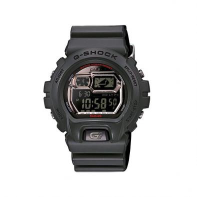 Мъжки спортен часовник Casio G-SHOCK сив с черен дисплей