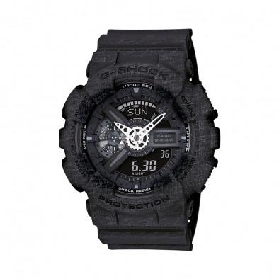 Мъжки спортен часовник Casio G-SHOCK черен със захабен ефект