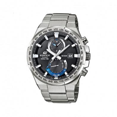 Мъжки часовник Casio Edifice сребрист браслет с дневна аларма