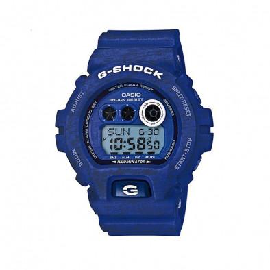Мъжки спортен часовник Casio G-SHOCK син с двуцветни надписи