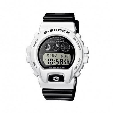Мъжки спортен часовник Casio G-SHOCK с бяла каса и черна каишка