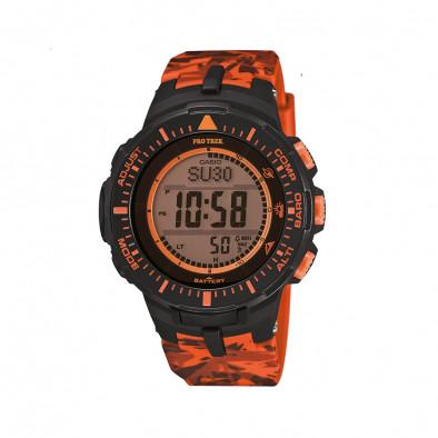 Мъжки часовник Casio Pro Trek оранжев камуфлаж