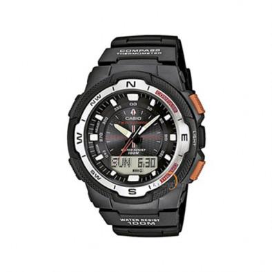 Мъжки часовник Casio Outdoor черен с оранжеви бутони