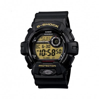 Мъжки спортен часовник Casio G-SHOCK черен с жълт дисплей