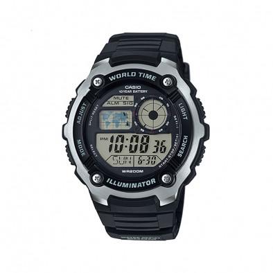 Мъжки часовник Casio Collection черен риболовен