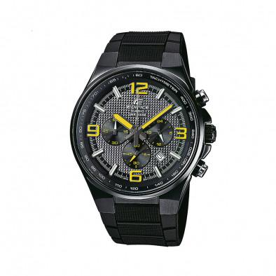 Мъжки часовник Casio Edifice черен с жълти стрелки и цифри