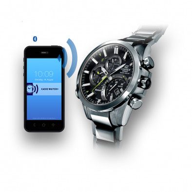 Мъжки часовник Casio Edifice сребрист браслет с Bluetooth EQB500D1AER 2