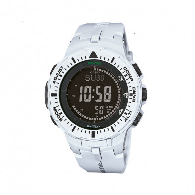 Мъжки часовник Casio Pro Trek бял с черен дисплей