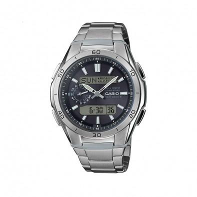 Мъжки часовник Casio Collection сребрист браслет с автоматичен календар