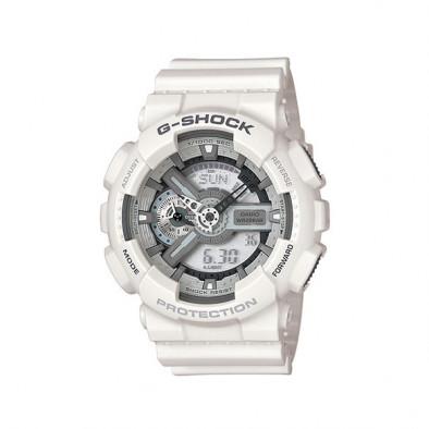 Мъжки спортен часовник Casio G-SHOCK бял със сиви надписи
