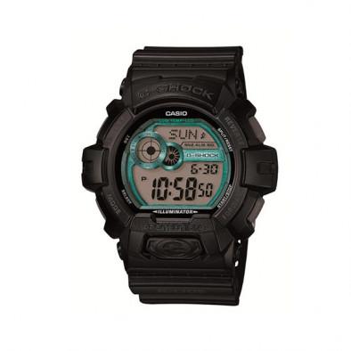 Мъжки спортен часовник Casio G-SHOCK черен със зелени детайли