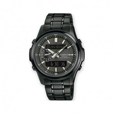 Мъжки часовник Casio Lineage черен с контрастни стрелки
