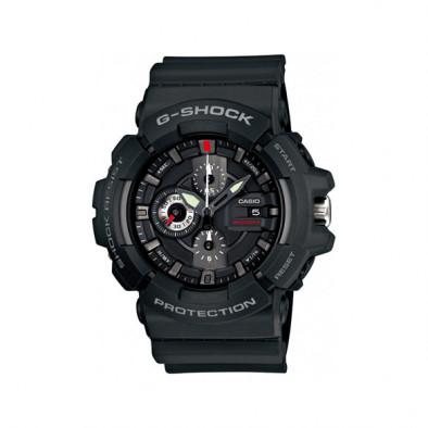 Мъжки спортен часовник Casio G-SHOCK черен с малки червени детайли
