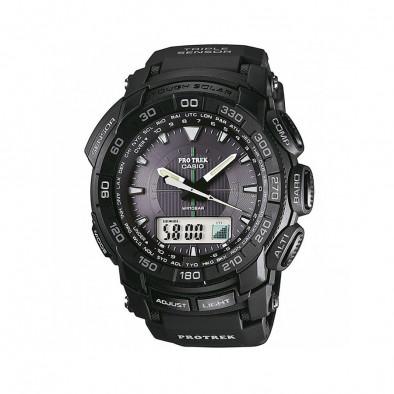 Мъжки часовник Casio Pro Trek черен с дигитално радио