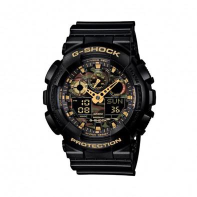 Мъжки спортен часовник Casio G-SHOCK черен с камуфлажен циферблат