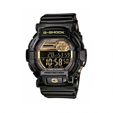Мъжки спортен часовник Casio G-SHOCK черен със златисти елементи на дисплея