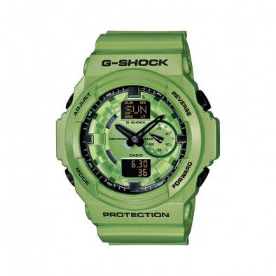 Мъжки спортен часовник Casio G-SHOCK зелен с черни стрелки