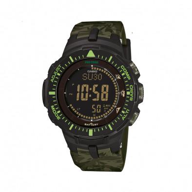Мъжки часовник Casio Pro Trek зелен камуфлаж