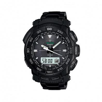 Мъжки часовник Casio Pro Trek  черен с водоустойчивост 10 BAR