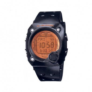 Мъжки часовник Casio G-SHOCK черен с оранжев дисплей