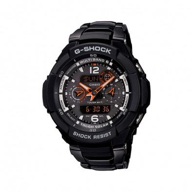 Мъжки спортен часовник Casio G-SHOCK черен с оранжеви стрелки
