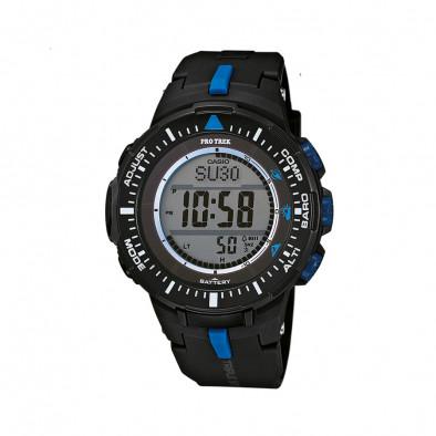 Мъжки часовник Casio Pro Trek черен със сини детайли